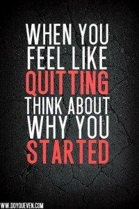 Change Habits - Don't Quit